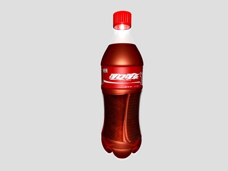Classic Coca Cola Bottle 3d rendering