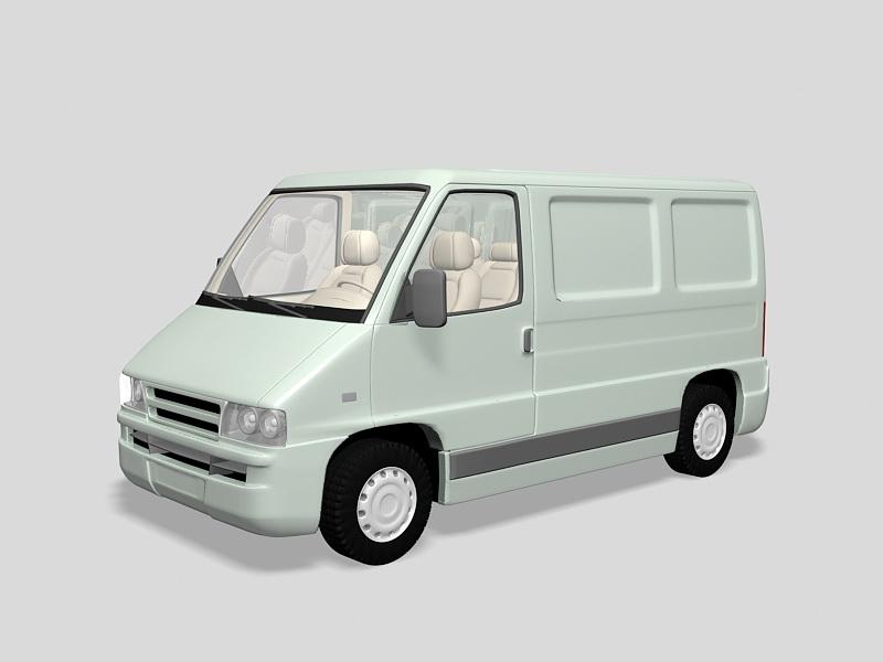 Cargo Van Vehicle 3d rendering