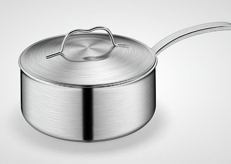 Stainless Steel Milk Pan 3d rendering