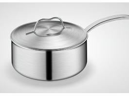 Stainless Steel Milk Pan 3d preview