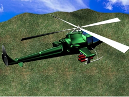 Military Helicopter Animated 3d preview
