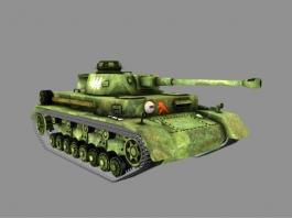 Panzer IV F2 Tank 3d model preview
