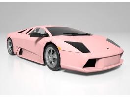 Pink Lamborghini Roadster 3d model preview