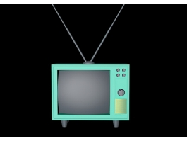 Low Poly Vintage Television 3d model preview