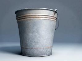 Vintage Metal Bucket 3d preview