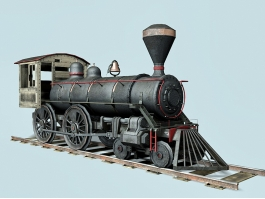 Old Loco Steam Engines 3d preview