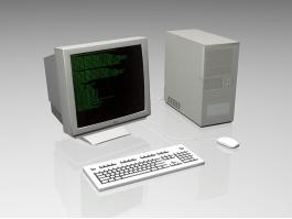 Old Desktop Computer 3d preview