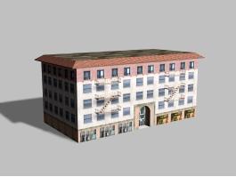 Vintage Apartment Buildings 3d preview