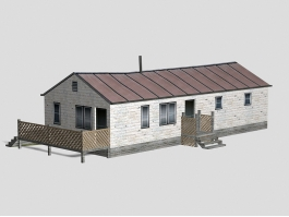 Vintage Wood Country House 3d preview