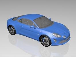 Alpine A110 Sports Car 3d preview