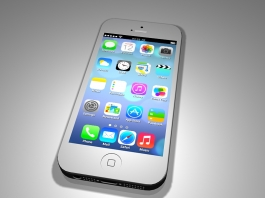 Apple iPhone 5 White 3d preview