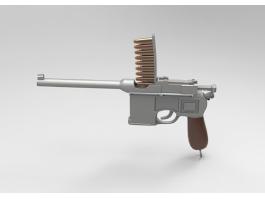 Mauser C96 Pistol 3d preview