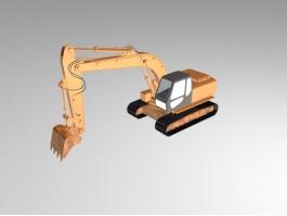 Crawler Excavator 3d preview