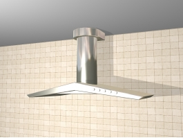 Stainless Steel Kitchen Hood 3d preview