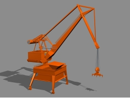 Level Luffing Crane Design 3d preview