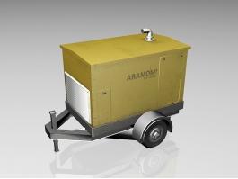 Mobile Diesel Generator Trailer 3d preview