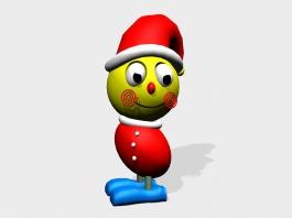 Cartoon Christmas Clown 3d preview