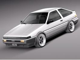 1983 Toyota AE86 Trueno 3d preview