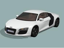 White Audi R8 3d preview