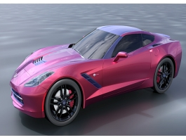 Dark Red Sports Car 3d preview