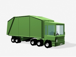 Low Poly Garbage Truck 3d preview