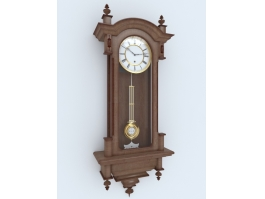 Antique Pendulum Wall Clock 3d preview