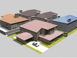 Traditional Family Houses 3d preview